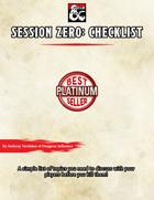 Session 0: Checklist
