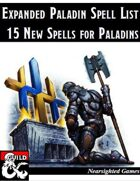 Expanded Paladin Spell List: 15 New Spells for Paladins