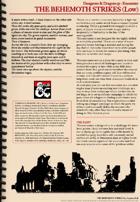5e Encounter - The Behemoth Strikes