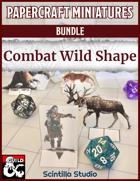 Papercraft Minis: Combat Wild Shape [BUNDLE]