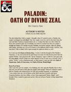 Paladin: Oath of  Divine Zeal