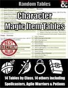 Character Magic Item Tables - Random Tables