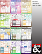 5th Edition Class Specific Character Sheets