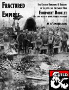 Fractured Empires: Equipment Booklet - Revamped
