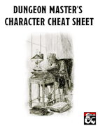 Dungeon Master's Character Cheat Sheet