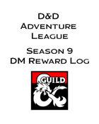 Season 9 Adventurer's League DM Rewards Log