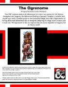 The Ogrenome (half ogre - half gnome)