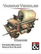 Various Vehicles: Wagons!