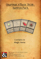 Grapthar's Magic Items - Sampler Pack - DnD5e