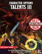 Character Options: Talents III (5E)