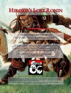 Hiroko's Lost Ronin (A level 5-7 adventure featuring Bugbears)