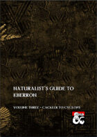 Naturalist's Guide to Eberron - Volume Three