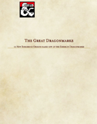 The Great Dragonmarks - 12 New Sorcerous Origins