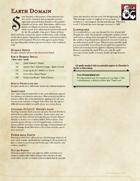 Cleric Subclass - Earth Domain