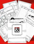 Character Sheet A5 Booklet (D&D 5E)