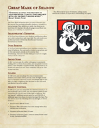 The Great Dragonmark of Shadow - Sorcerous Origin