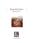 Reginald Liadon: High Elf Noble NPC