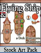 Flying Ship - Stock Art Pack