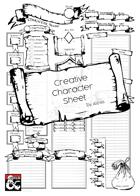 Creative Character Sheet - A4