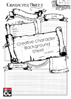 Creative Character Background Sheet - A4