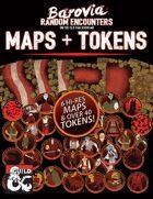 Barovia Random Encounters Maps & Tokens pack for Roll20 Curse of Strahd