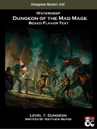 DotMM: Boxed Flavor Text and Combat Tracker - Level 1 (Waterdeep: Dungeon of the Mad Mage)