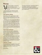 Witch Class for DND 5e