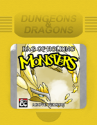 Bag of Holding Monsters: Above and Below Versions