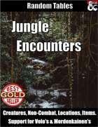 Jungle Encounters - Random Encounter Tables
