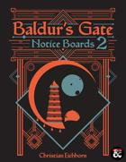 Baldur's Gate Notice Boards 2 | A Descent Into Avernus Supplement