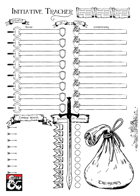 Initiative Tracker Sheet (vers. 1) - A4