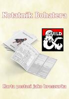 Notatnik bohatera - broszurka postaci