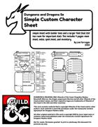 Lian's 5e Custom Character Sheet