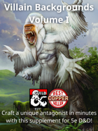 Villain Backgrounds Volume I