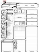 Fillable auto-calculation character sheet (English / German) - Ausfüllbarer Charakterbogen, der die wichtigsten Werte selbst berechnet