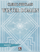 Cleric Subclass - Winter Domain