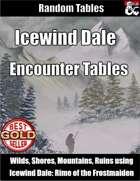 Icewind Dale Encounter Tables - Random Encounters