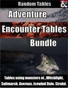Adventure Encounter Tables Bundle - Random Tables [BUNDLE]