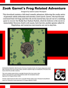 Zook Garret's Frog Related Adventure!
