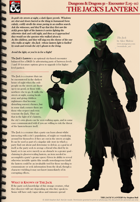 5e Encounter - The Jack's Lantern
