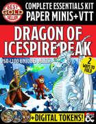 Essentials Kit Paper Miniatures & VTT: Dragon of Icespire Peak