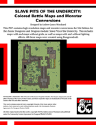 A1: Slave Pits of the Undercity - Colored Battle Maps and 5E Adventure Conversion