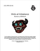 CCC-PFF-03-01 Hints at Imbalance: Rumors of Moloch