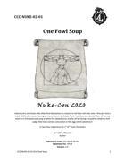 "CCC-NUKE-02-01 ""One Fowl Soup"""