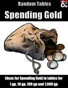 Spending Gold - Random Tables