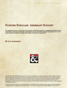 Fighter Subclass- Aberrant Knight
