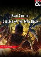 College of The War Drum ( Bard Subclass )