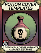 Cover Template - Potion - Hand Drawn Style