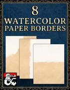 8 Watercolor Paper Borders