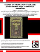 A2: Secret of the Slaver Stockade - Colored Battle Maps and 5E Adventure Conversion